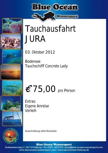 Tauchausfahrt JURA 03. Oktober 2012 ... - Blue Ocean Wassersport