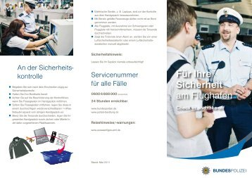 Check-in and take-off - Bundespolizei