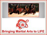Bringing Martial Arts to LIFE