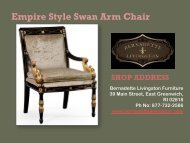 Empire Style Swan Arm Chair