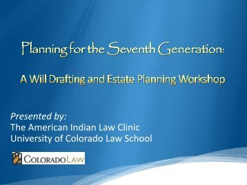Presented by - Colorado Law