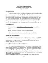 ~1~ Legal Ethics and Professionalism Preliminary ... - Colorado Law