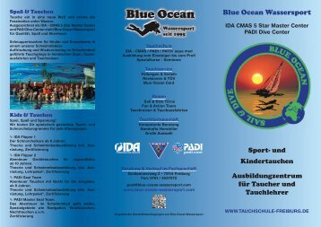 Flyer 2012 Kurse - Blue Ocean Wassersport