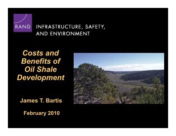 What are the prospects for oil shale development? - Colorado Law