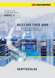 Auszug aus dem Hauptkatalog 2010/1 - SSI Schäfer