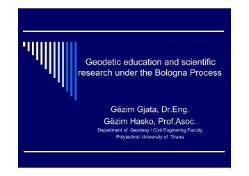 Geodetic education in Albania.pdf - BALGEOS