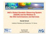 IAG's Global Geodetic Observing System (GGOS) and ... - BALGEOS