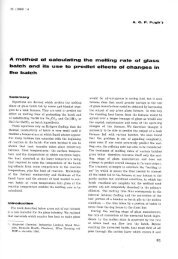 A method of calculating the melting rate at glass batch and its ... - Glafo