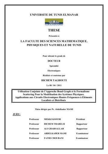 universite de tunis elmanar la faculte des sciences mathematique ...