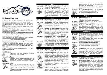 Zu diesem Programm Mai Juni Juli August September ... - BN MSP