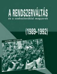 A rendszerváltás és a csehszlovákiai magyarok (1989—1992)
