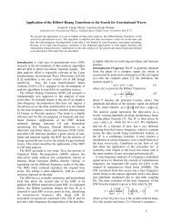 1 Application of the Hilbert-Huang Transform to the Search for ...