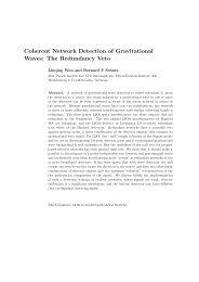 Coherent Network Detection of Gravitational Waves - LIGO Scientific ...