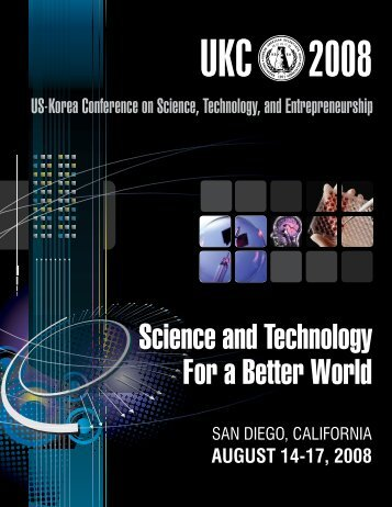 Download UKC2008 Program (pdf, 6.2 MB) - Korean-American ...