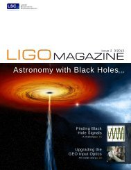 LIGO Magazine, Issue 2, 3/2013 - LIGO Scientific Collaboration