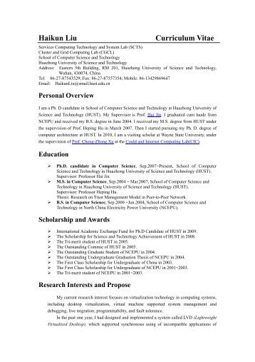 Doctoral candidate on resume