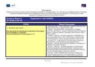 Quarterly Report 2 (01/09/09-31/03/10) Organisation ... - AESAEC