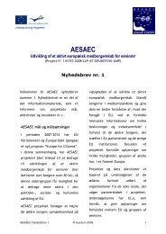 AESAEC Udvikling af et aktivt europæisk medborgerskab for seniorer