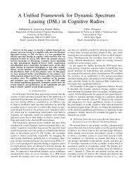 A Unified Framework for Dynamic Spectrum ... - COMONSENS