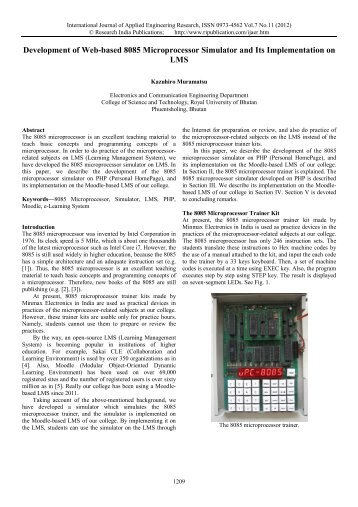Development of Web-based 8085 Microprocessor ... - Gimt.edu.in