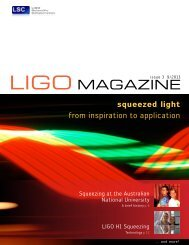LIGO Magazine, issue 3, 9/2013 - LIGO Scientific Collaboration
