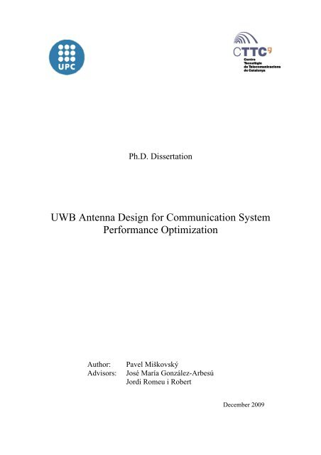Phd thesis on uwb antenna