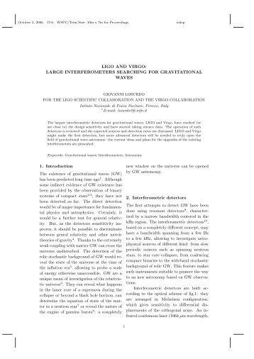 LIGO AND VIRGO - LIGO Scientific Collaboration