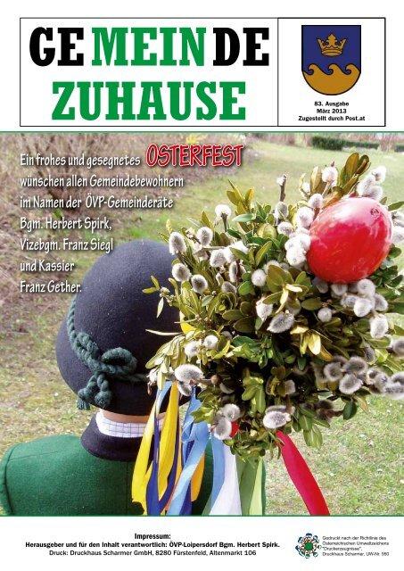 Gemeinde Zuhause 1/2013 (PDF) - Gemeinde Loipersdorf