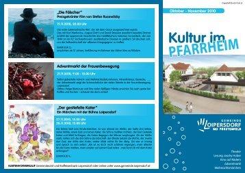 FOLDER zum Kulturprogramm im Pfarrheim - Gemeinde Loipersdorf