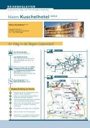 Ihr Weg in die Region Loipersdorf Maiers Kuschelhotel ****