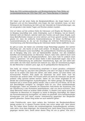 Rede des Cdu-Landesvorsitzenden und ... - CDU Saar