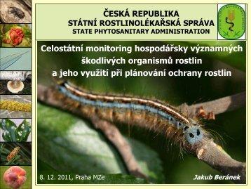 Ing. J. Beránek, Ph.D. - Česká společnost rostlinolékařská