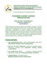 Program semináře - Česká společnost rostlinolékařská