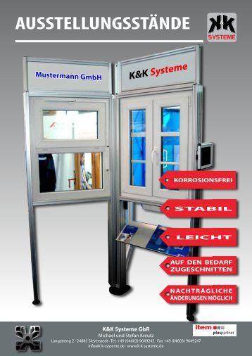 AUSSTELLUNGSSTÄNDE - K & K-Systeme