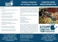 christen ohne menschenrechte! - Freunde der Serviten Rossau