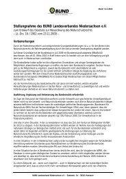 Stellungnahme des BUND Landesverbandes Niedersachsen e.V.