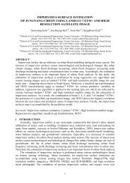 impervious surface estimation of jungnang-cheon using landsat-7 ...
