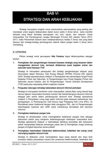 12 Bab 6 Strategi dan Arah Kebijakan - Pusat Informasi ...