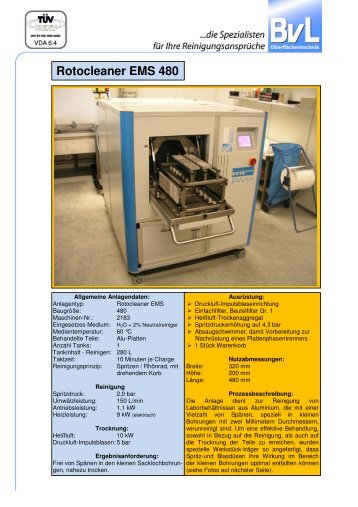 Rotocleaner EMS 480 - BvL Group