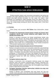 bab vi strategi dan arah kebijakan - Pusat Informasi Perencanaan ...