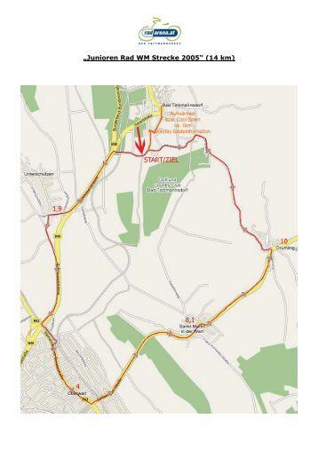 """Junioren Rad WM Strecke 2005"" (14 km) - Radarena"