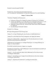 Protokoll der Sitzung vom 05.02.2008 - Slavisches Institut