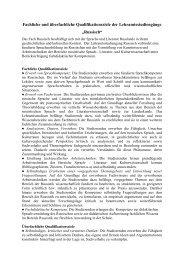 Fachliche und überfachliche Qualifikationsziele ... - Slavisches Institut