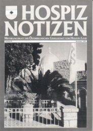 Nummer 5 - Novemeber 1989 - Österreichisches Hospiz