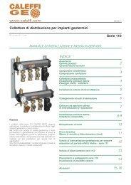 Collettore di distribuzione per impianti geotermici Serie 110 ... - Caleffi