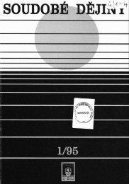 Soudobé dějiny č. 1/1995 - Ústav pro soudobé dějiny AV