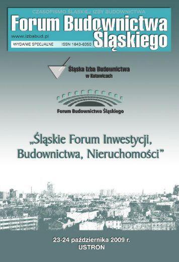 FORUM BUDOWNICTWA ŚLĄSKIEGO wydanie specjalne 2009 - śląska izba ...