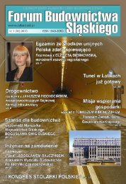 FORUM BUDOWNICTWA ŚLĄSKIEGO nr 1 (31) 2010 - śląska izba budownictwa