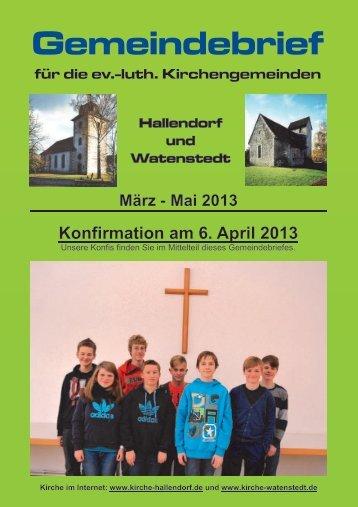 2013-03 Gemeindebrief.pdf, Seiten 1-20 - kirche-hallendorf.de