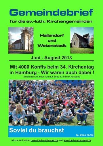 2013-06 Gemeindebrief.pdf, Seiten 1-16 - kirche-hallendorf.de